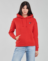 material Women sweaters Tommy Jeans TJW BXY HOMESPUN HEART HOODIE Red