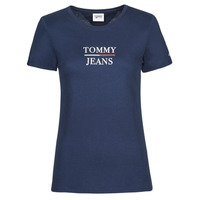 material Women short-sleeved t-shirts Tommy Jeans TJW SKINNY ESSENTIAL TOMMY T SS Marine