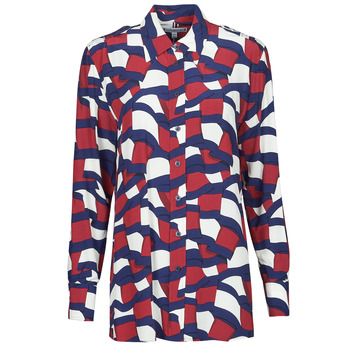 material Women Shirts Tommy Hilfiger VISCOSE PRINTED BLOUSE LS Multicolour