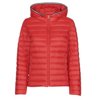 material Women Duffel coats Tommy Hilfiger TH ESS LW DOWN JACKET Red