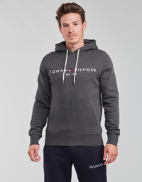 material Men sweaters Tommy Hilfiger TOMMY LOGO HOODY Grey / Anthracite