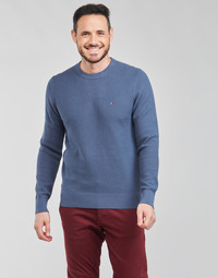 material Men jumpers Tommy Hilfiger STRUCTURE CREW NECK Blue