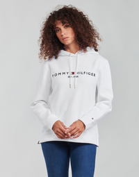 material Women sweaters Tommy Hilfiger HERITAGE HILFIGER HOODIE LS White