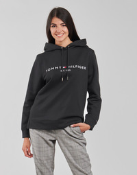 material Women sweaters Tommy Hilfiger HERITAGE HILFIGER HOODIE LS Black