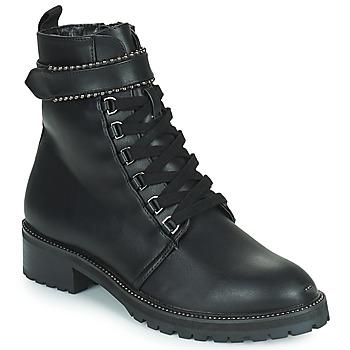 Shoes Women Mid boots The Divine Factory LH2247B Black