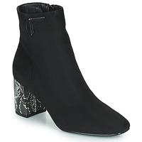 Shoes Women Ankle boots The Divine Factory QL4534 Black / Python