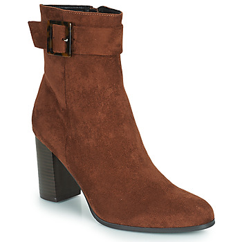 Shoes Women Ankle boots The Divine Factory QL4549 Brown