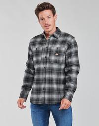 material Men long-sleeved shirts Dickies EVANSVILLE LS Black