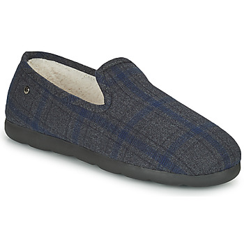 Shoes Men Slippers Isotoner 98038 Grey / Blue