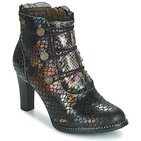 Shoes Women Ankle boots Laura Vita ALCBANEO Brown / Black