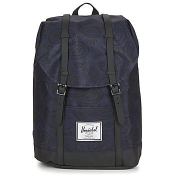 Bags Rucksacks Herschel RETREAT Marine / Black