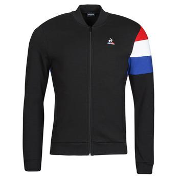 material Men Jackets Le Coq Sportif TRI FZ SWEAT N 1 M Black