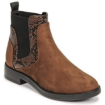 Shoes Women Mid boots Only BIBI 19 PU LIFE MF MIX ELASTIC BOOT Brown