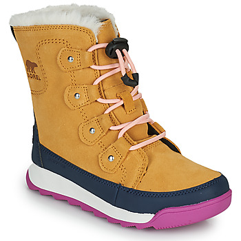 Shoes Girl Mid boots Sorel YOUTH WHITNEY II JOAN LACE Camel