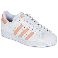 Shoes Women Low top trainers adidas Originals SUPERSTAR White / Pink