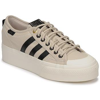 Shoes Women Low top trainers adidas Originals NIZZA PLATFORM W Beige / Black