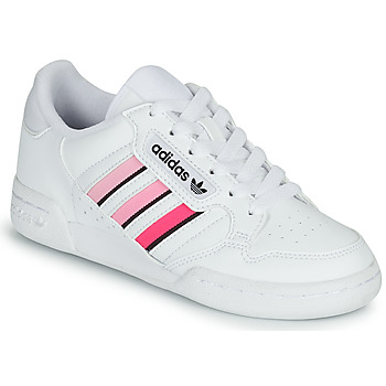Shoes Girl Low top trainers adidas Originals CONTINENTAL 80 STRI J White / Pink