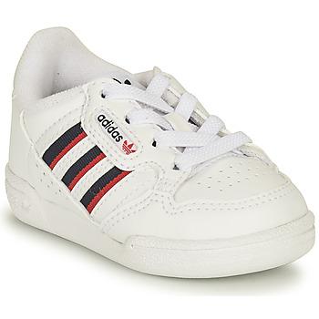 Shoes Children Low top trainers adidas Originals CONTINENTAL 80 STRI I White / Blue
