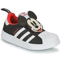 Shoes Boy Low top trainers adidas Originals SUPERSTAR 360 C Black / Mickey