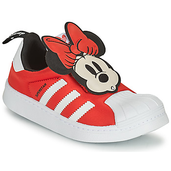 Shoes Girl Low top trainers adidas Originals SUPERSTAR 360 C Red / Minnie