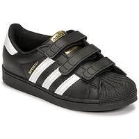 Shoes Children Low top trainers adidas Originals SUPERSTAR CF C Black / White