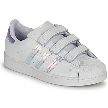 Shoes Children Low top trainers adidas Originals SUPERSTAR CF C White / Silver