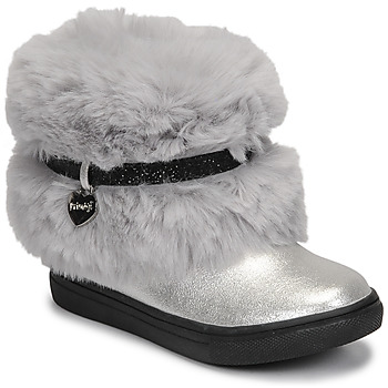 Shoes Girl Mid boots Primigi BABY LUX Silver