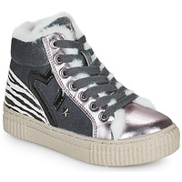 Shoes Girl High top trainers Primigi GIRL ALPHA Silver