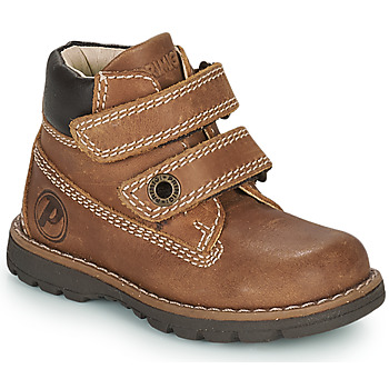 Shoes Boy Mid boots Primigi PLAY CASUAL Brown