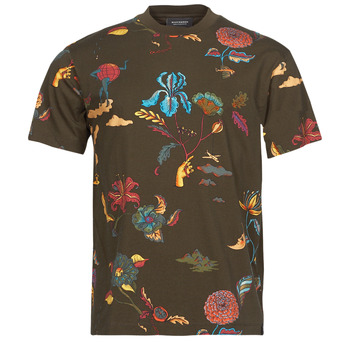 material Men short-sleeved t-shirts Scotch & Soda PRINTED RELAXED FIT Brown