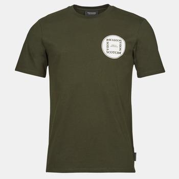 material Men short-sleeved t-shirts Scotch & Soda GRAPHIC LOGO T-SHIRT Khaki