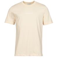 material Men short-sleeved t-shirts Scotch & Soda GRAPHIC LOGO Beige