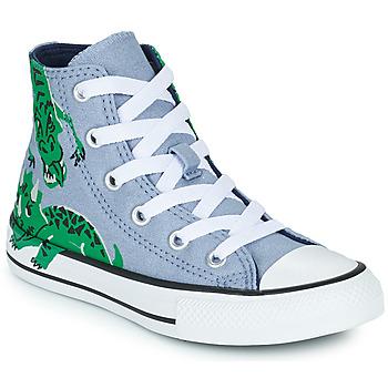 Shoes Children High top trainers Converse CHUCK TAYLOR ALL STAR DINO DAZE HI Blue / Green