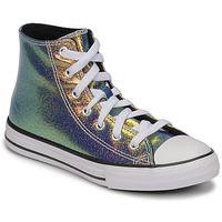 Shoes Girl High top trainers Converse CHUCK TAYLOR ALL STAR IRIDESCENT GLITTER HI Silver