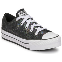 Shoes Girl Low top trainers Converse CHUCK TAYLOR ALL STAR EVA LIFT IRIDESCENT LEATHER OX Black