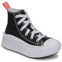 Shoes Girl High top trainers Converse CHUCK TAYLOR ALL STAR MOVE CANVAS HI Black / Pink