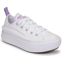 Shoes Girl Low top trainers Converse CHUCK TAYLOR ALL STAR MOVE CANVAS OX White / Pink
