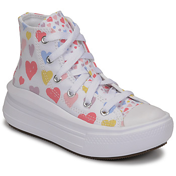 Shoes Girl High top trainers Converse CHUCK TAYLOR ALL STAR MOVE ALWAYS ON HEARTS HI White / Multicolour