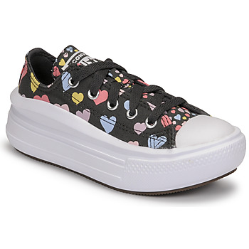 Shoes Girl Low top trainers Converse CHUCK TAYLOR ALL STAR MOVE ALWAYS ON HEARTS OX Black / Multicolour