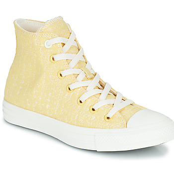 Shoes Women High top trainers Converse CHUCK TAYLOR ALL STAR HYBRID TEXTURE HI Yellow