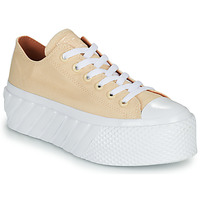 Shoes Women Low top trainers Converse CHUCK TAYLOR ALL STAR LIFT 2X HYBRID SHINE OX Yellow