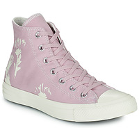 Shoes Women High top trainers Converse CHUCK TAYLOR ALL STAR HYBRID FLORAL HI Mauve