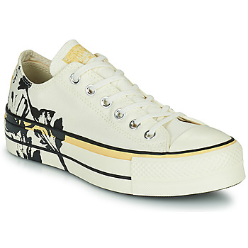 Shoes Women Low top trainers Converse CHUCK TAYLOR ALL STAR LIFT HYBRID FLORAL OX White