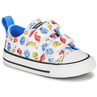 Shoes Children Low top trainers Converse CHUCK TAYLOR ALL STAR 2V DINO DAZE OX White / Green / Orange