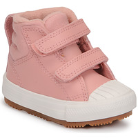 Shoes Girl High top trainers Converse CHUCK TAYLOR ALL STAR BERKSHIRE BOOT SEASONAL LEATHER HI Pink