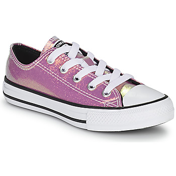 Shoes Girl Low top trainers Converse CHUCK TAYLOR ALL STAR IRIDESCENT GLITTER OX Pink