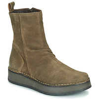 Shoes Women Mid boots Fly London RENO Taupe