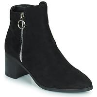 Shoes Women Boots Moony Mood PETROLIA Black