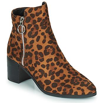Shoes Women Ankle boots Moony Mood PETROLIA Camel