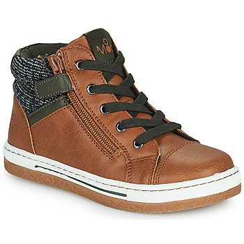 Shoes Boy High top trainers Mod'8 KYNATA Cognac